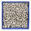 Sjaaltje met panterprint blauw