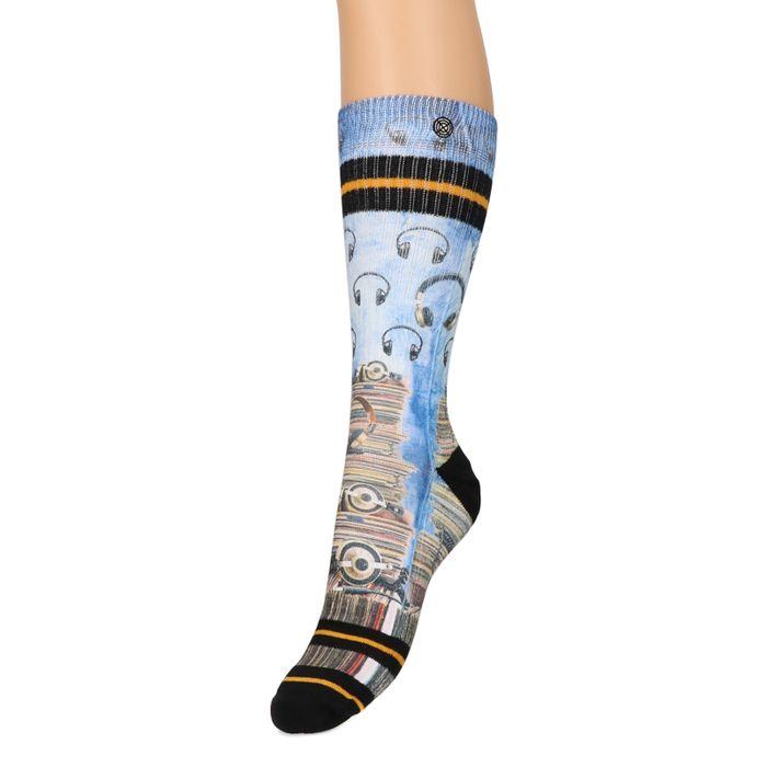 XPOOOS Socken mit Kopfhörer-Aufdruck