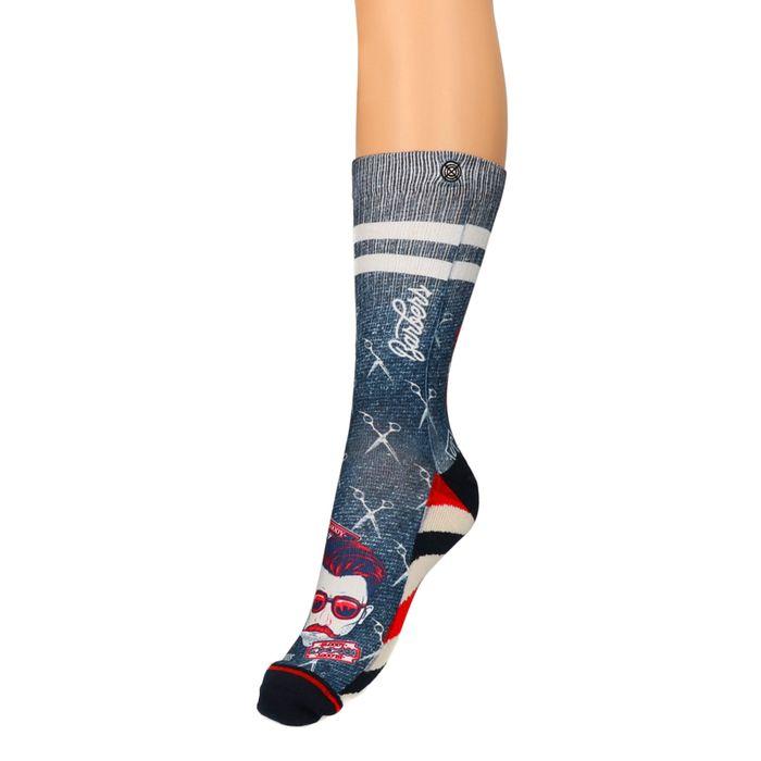 XPOOS Socken mit Barber-Aufdruck