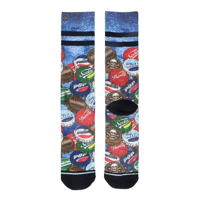 XPOOS Socken mit Flaschendeckel-Aufdruck