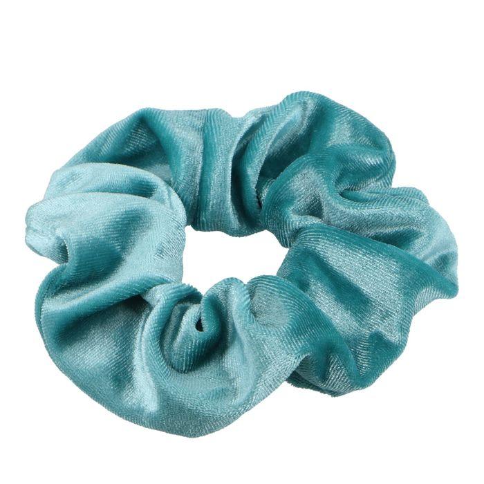 Mintgroene velvet scrunchie