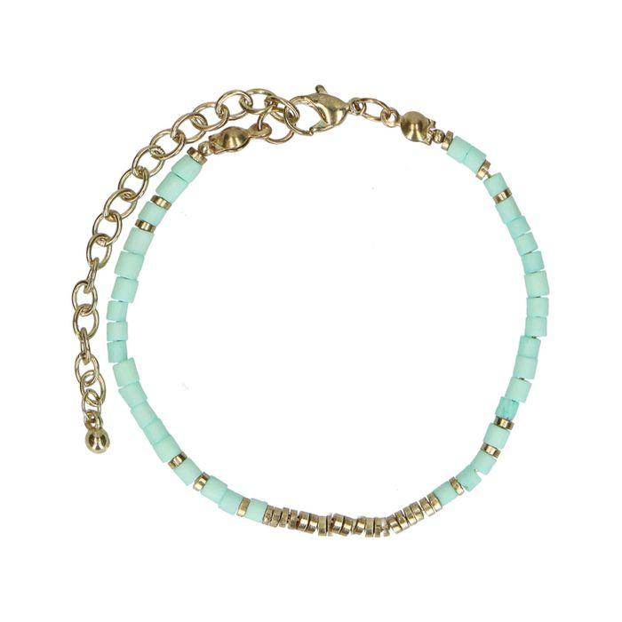 Armbandje met turquoise kralen
