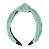 Mint plissé haarband