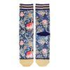 XPOOOS bloemenprint sokken blauw