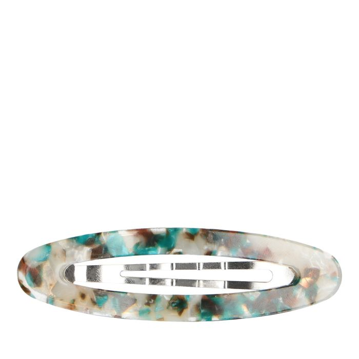 Haarclip met multicolor tortoiseprint