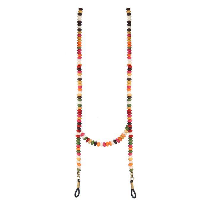 Multicolor zonnebrilkoord met kraaltjes