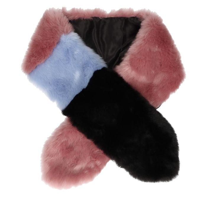 Foulard doux - rose/noir/ bleu
