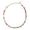 Collier ras du cou avec perles multicolores