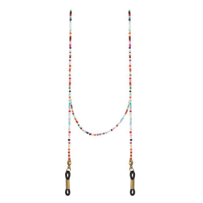 Cordon pour lunettes de soleil avec perles - multicolore
