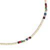 Collier ras du cou avec perles - multicolore