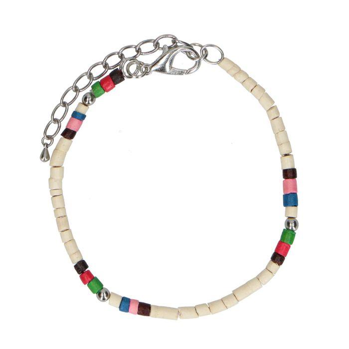 Bracelet avec perles multicolores