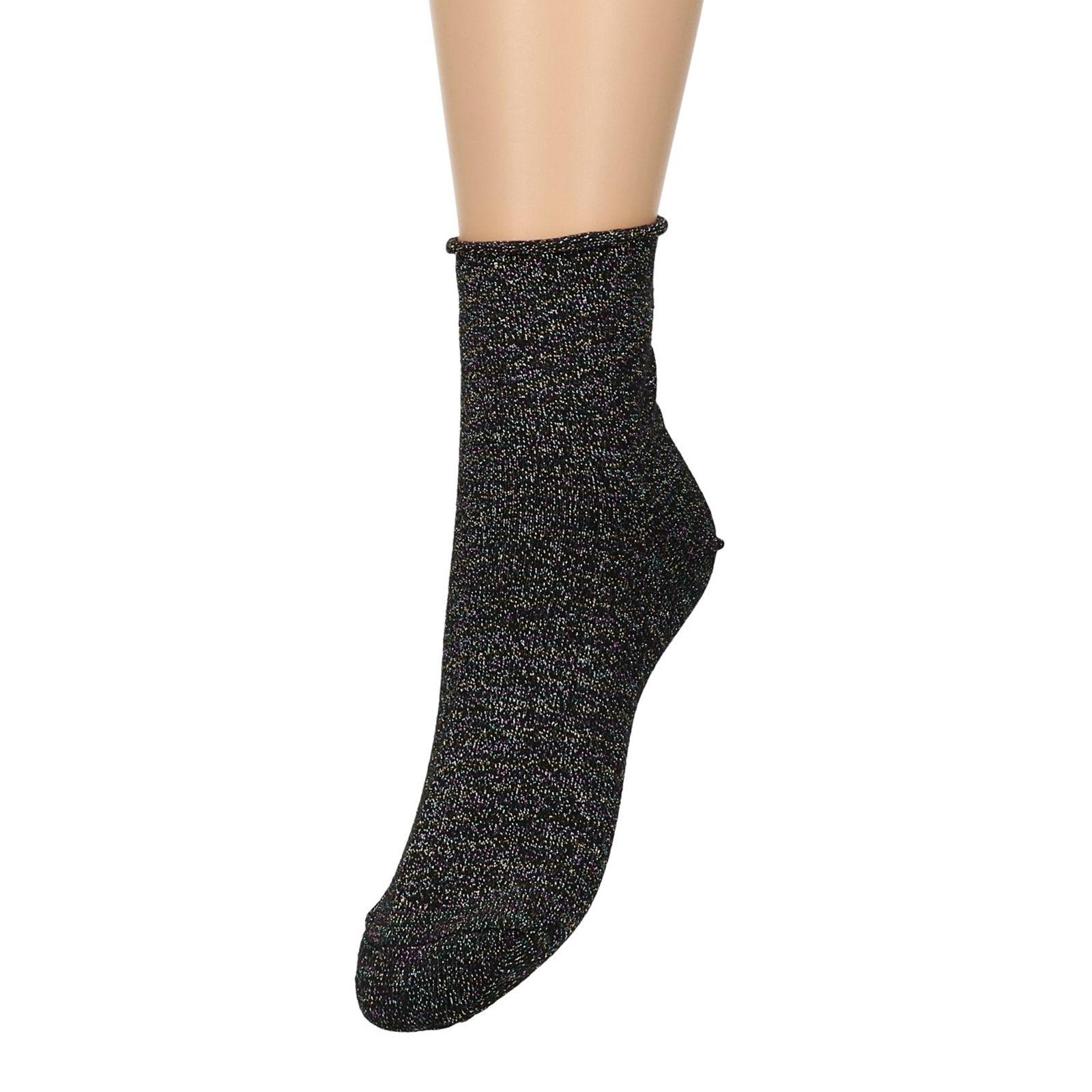 Chaussettes avec paillettes multicolores - noir