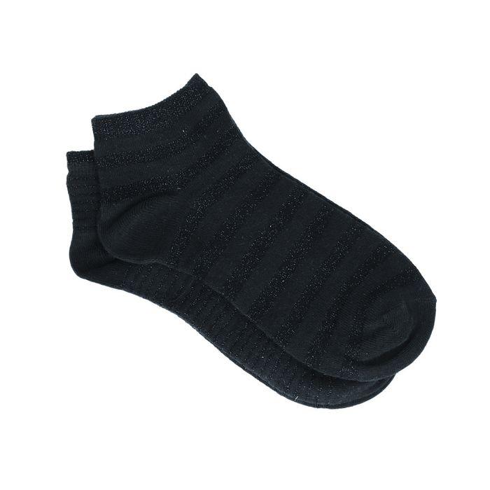 Chaussettes avec paillettes noires