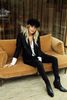 Sacha x Jolielot Casquette gavroche teddy - noir