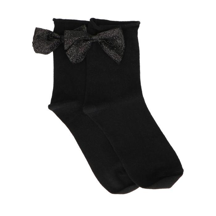 Chaussettes avec nœud pailleté - noir