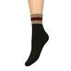 Chaussettes avec bord pailleté doré/rouge - noir