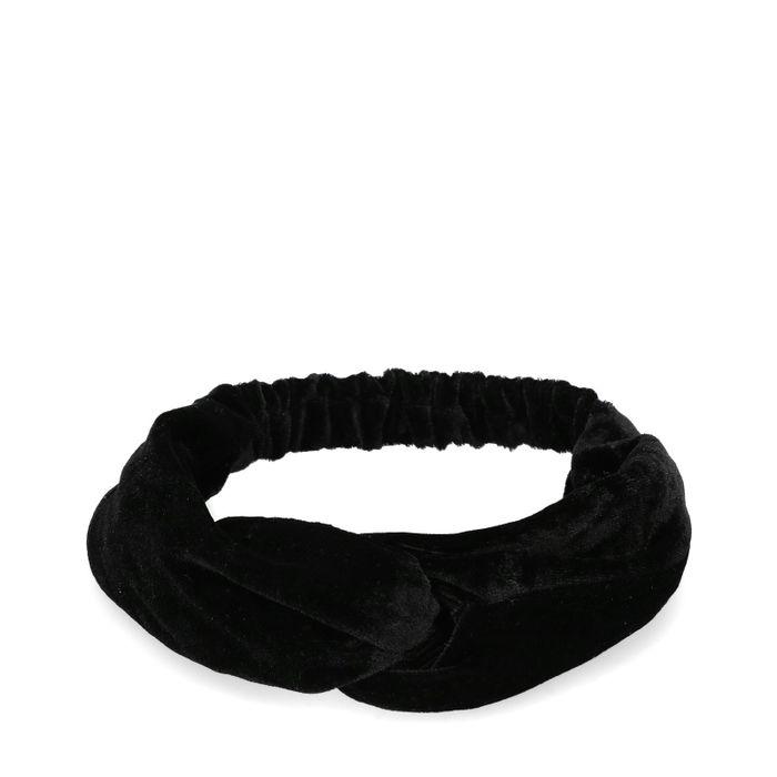 Bandeau en velours - noir