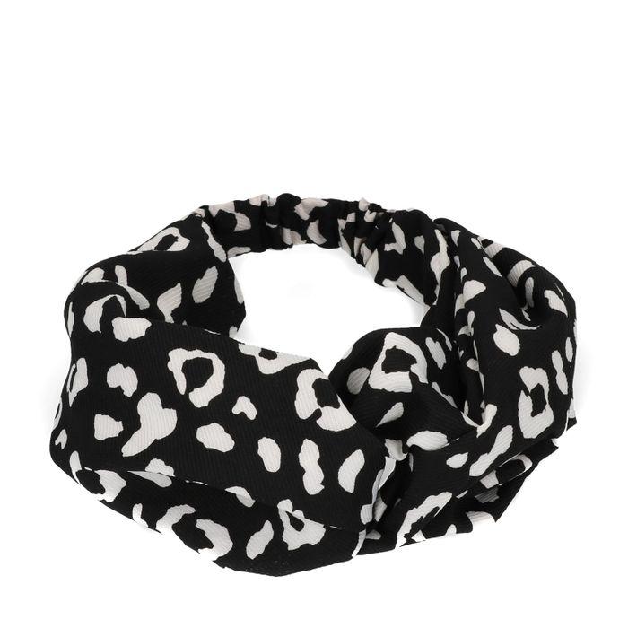 Bandeau avec imprimé léopard - noir