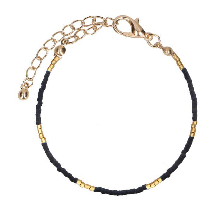 Bracelet avec perles - noir