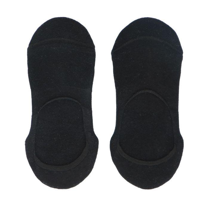 Socquettes pour baskets unisexe 3 paires - noir