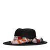 Chapeau avec petit foulard - noir