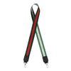 Bandoulière vert foncé avec détail rouge/argenté