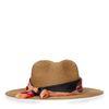 Naturel hoed met sjaaltje