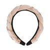 Roze gevlochten velvet haarband