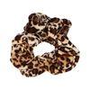 Chouchou en velours avec imprimé léopard