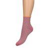 Chaussettes pailletées à pois - rose