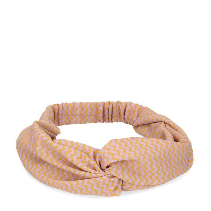 Paarse haarband met oranje details