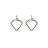 Boucles d'oreille dorées en forme de diamant