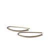 Boucles d'oreille pendantes minimalistes dorées