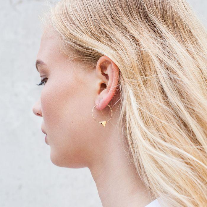Boucles d'oreille avec triangle