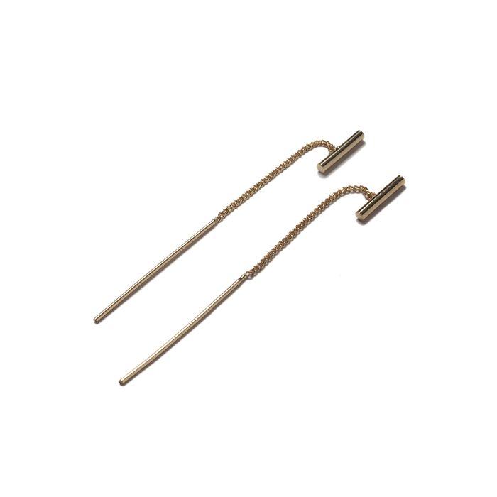 Boucles d'oreille traversantes avec petite barre