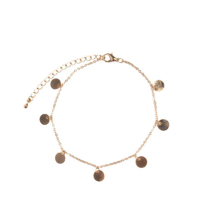 Bracelet de cheville cercle - doré
