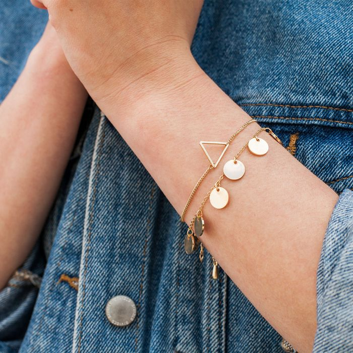 Bracelet avec cercles - doré