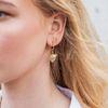 Boucles d'oreille avec tête de tigre - doré