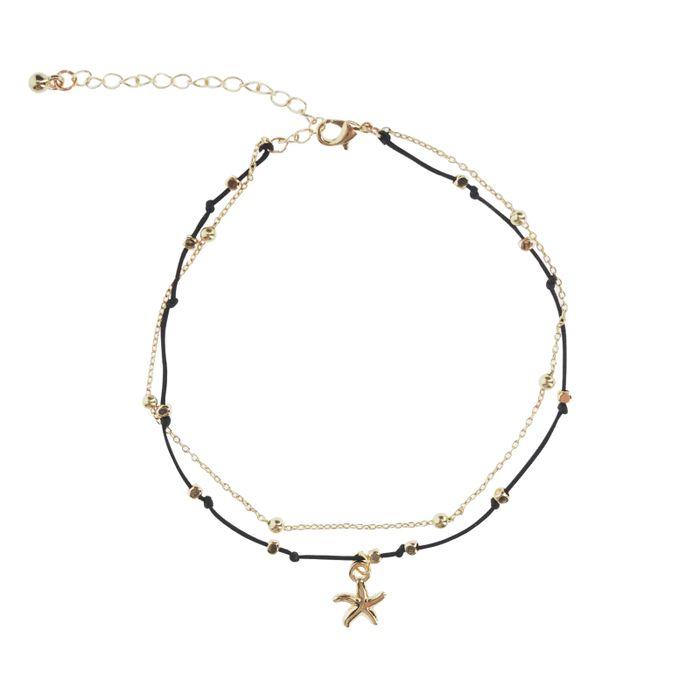 LUZ Bracelet de cheville étoile de mer - doré