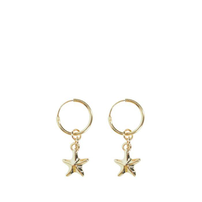 Créoles avec étoile de mer - doré