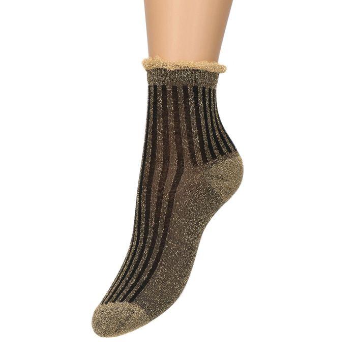Chaussettes avec paillettes - doré