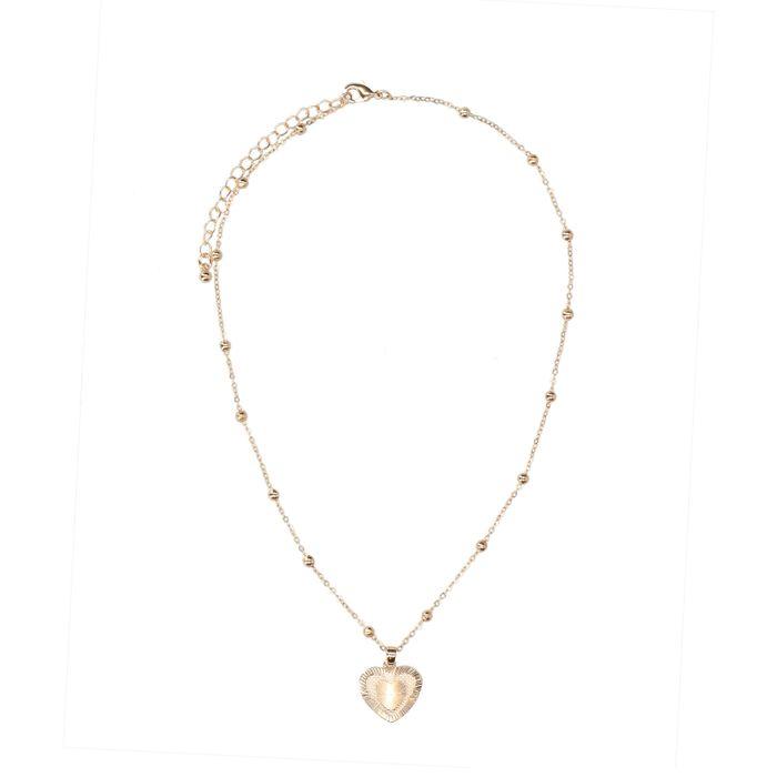 Collier avec pendentif cœur - doré