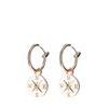 Boucles d'oreille avec pendentif boussole - rose