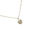 Collier avec pendentif en forme de cœur - doré