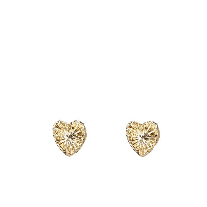 Boucles d'oreille cœurs - doré