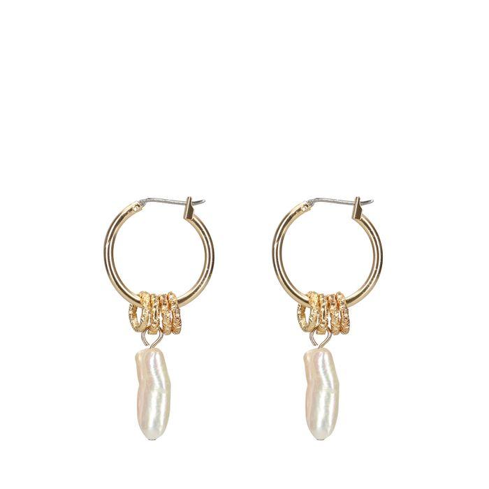 Créoles avec perles - doré