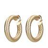 Boucles d'oreille mattes branchées - doré