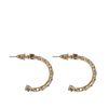 Boucles d'oreille maillons - doré