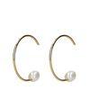 Boucles d'oreille avec perle - doré