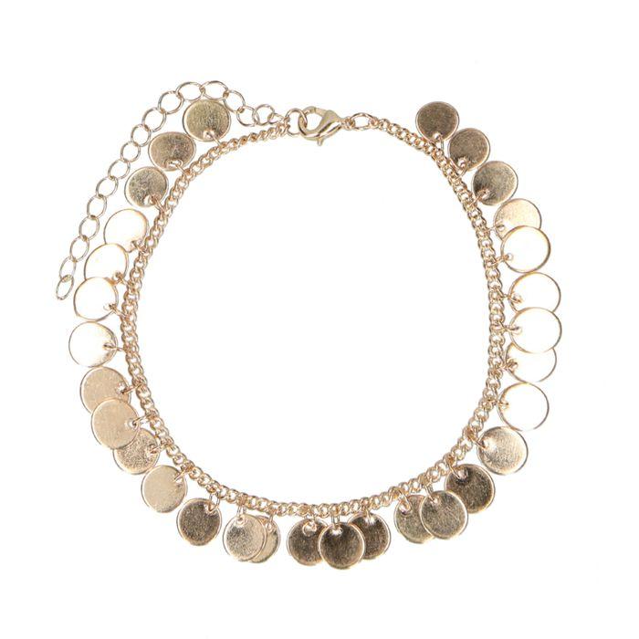 Bracelet de cheville avec pièces - doré